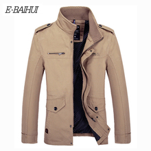 E-BAIHUI fashion Jackets New Mens Windbreaker Autumn Casual Coats Men Outerwear Slim Fit Stand Collar Male Jacket Business G028