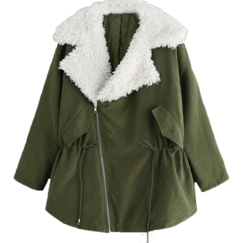 Winter Women Warm Fleece Lined Short Jac