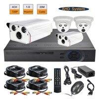 CCTV AHD DVR System 4ch Surveillance 720p 1 0MP 2PCS Array IR Indoor Outdoor Kit