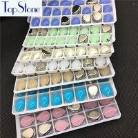 Peer Droplet Opal Stone Met Klauw Instelling 13X18 MM 10x14mm Acryl opnaaistenen Steen Teardrop Naaien Resin Strass Jurk Maken