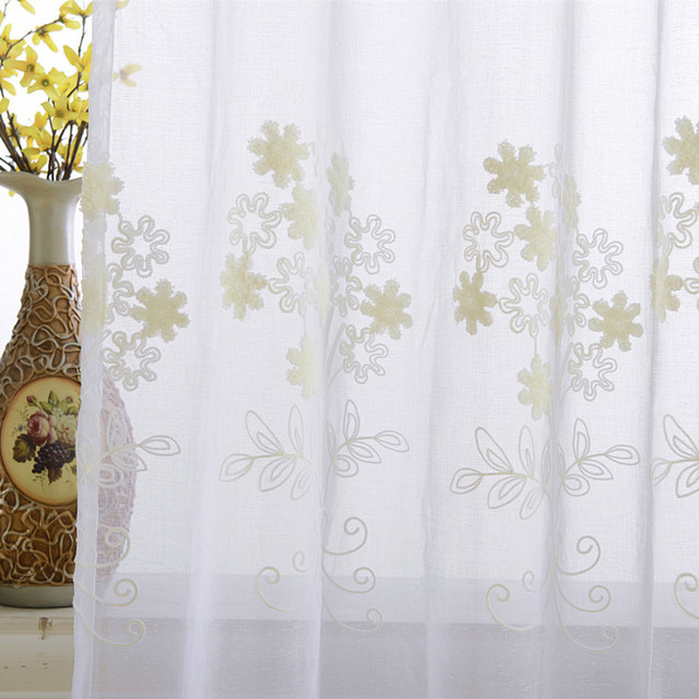 Curtains For Living Dining Room Bedroom Tulle Sheer Yarn High End Atmosphere Simple Modern Embroidery