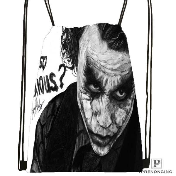 Custom Joker batman arkham Drawstring Backpack Bag Cute Daypack Kids Satchel Black Back 31x40cm 2018612 01