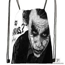 Custom Joker-batman-arkham Drawstring Backpack Bag Cute Daypack Kids Satchel (Black Back) 31x40cm#2018612-01-(13)