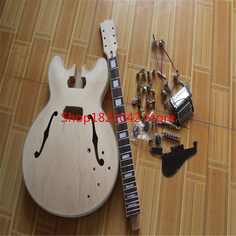 Sir Free shipping 335 model guitar bag semi-finished products hot sale wholesale electric guitar bag hot sale top quality white lp custom guitar with golden hardware electric guitar free shipping white color