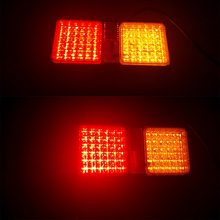 1 Pair 50 LED Car Rear Tail Lights Warning Lamp for Truck Trailer Tractor Lorry 12V 24V 1 pair cob truck tail lights indicator warning lamp for 12v 24v bus trailer lorry van