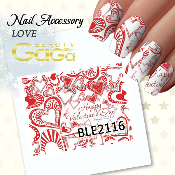 24 Designs Valentines Red Lips 3d Nail Art Stickers Decals For Tips Decoration 2016 New