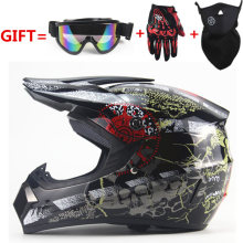 Envío Libre casco de moto cross mens MTB DH Downhill off road motocross casco de moto que compite con cascos DOT with3 regalos