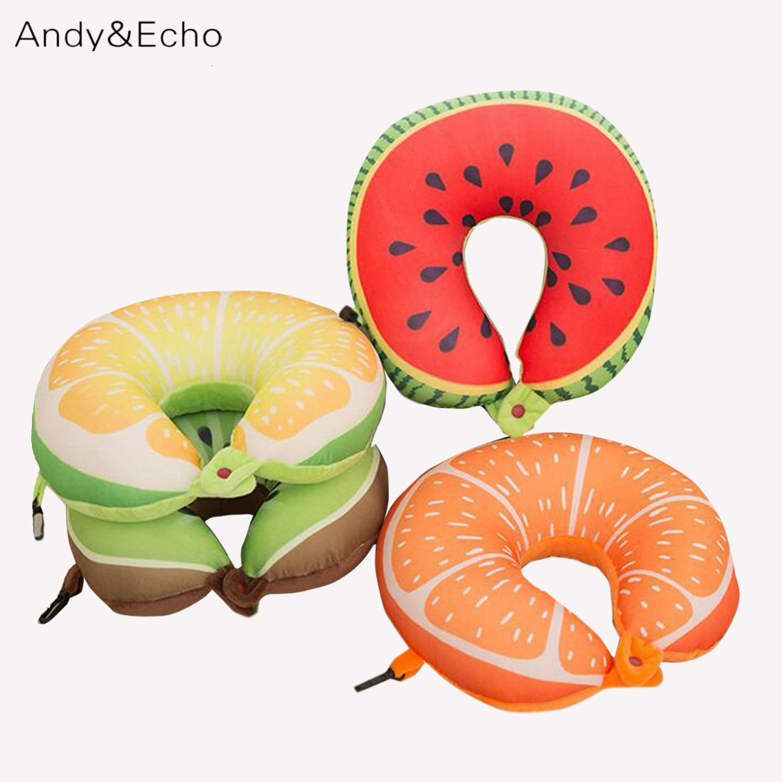 Fruit U Shaped Travel Pillow Neck Memory Cushion For Kids Nano Particles Massage Soft Body Foam Pillows For Airplane Car Office