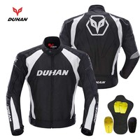 600D Oxford Off Road Motorcycle Jacket DUHAN Professional Moto Racing Jackets Motorcycle Riding Clothes Black Blue