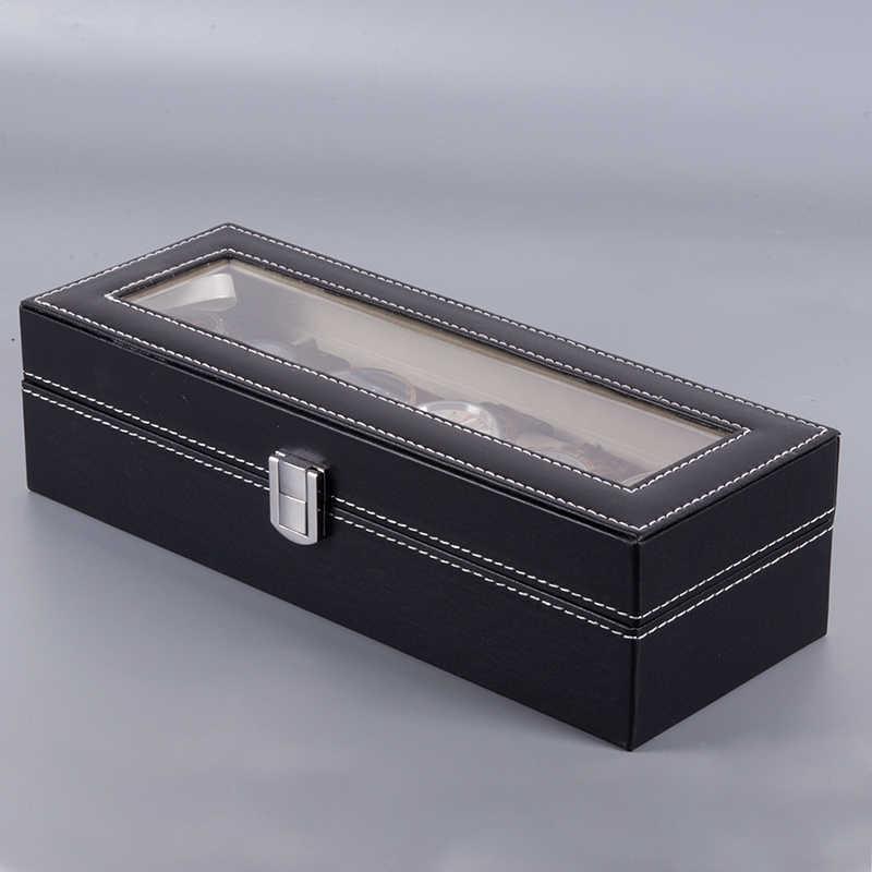 בובו ציפור שעונים תצוגת תיבת מארגן אחסון Leatherette שעון יד מחזיק תכשיטי תצוגת מקרה