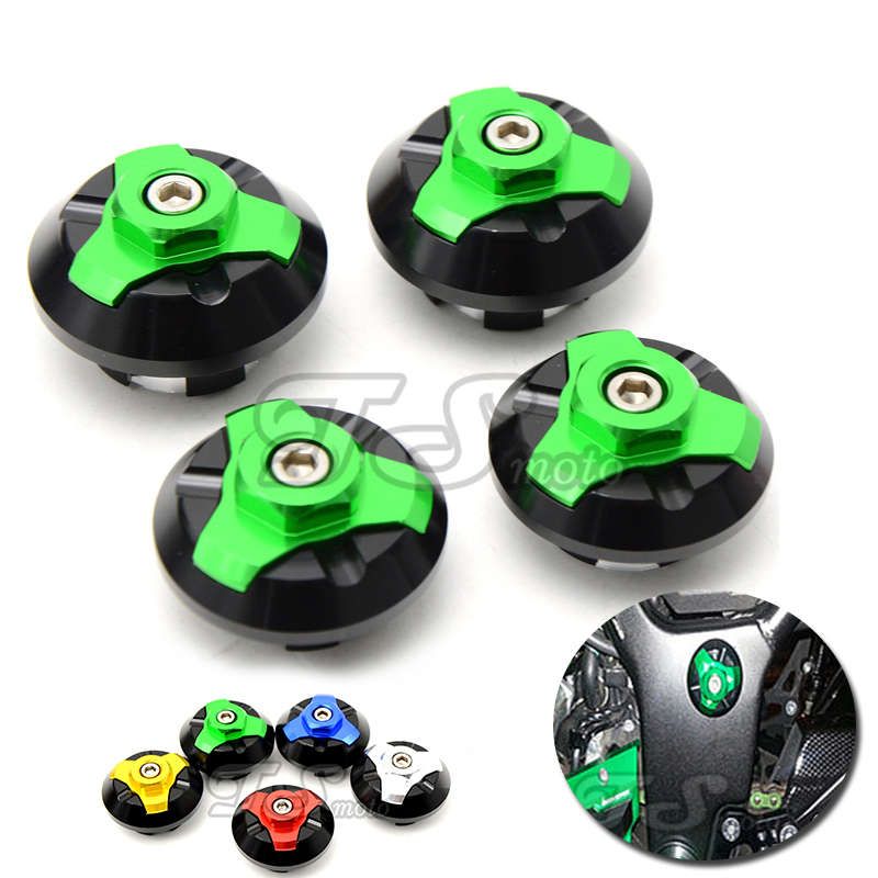Motorcycle CNC Frame Hole Cap Cover Plug Left,Right,Low,Up For KAWASAKI Ninja 250 z250 Ninja250 z 250 2013 2014