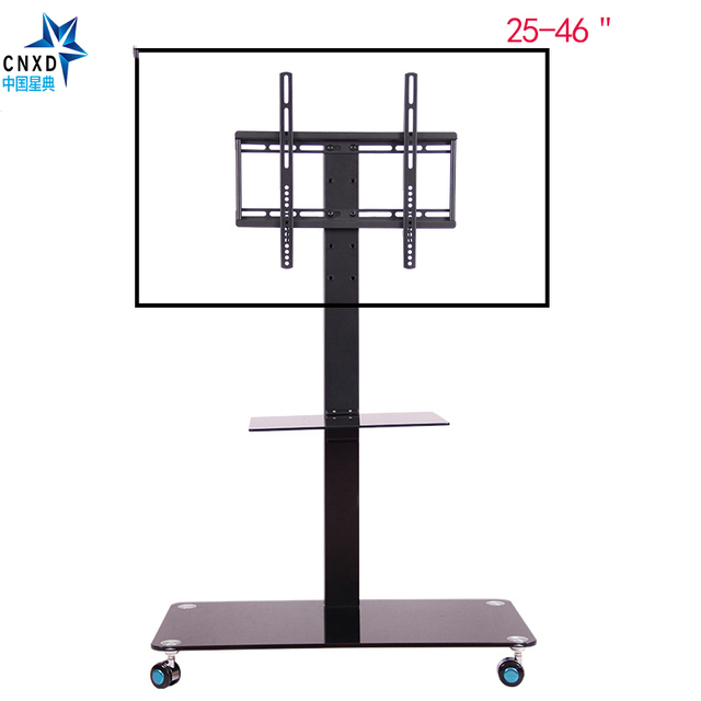 Mobile TV Display Floor Stand Mount con Ruote Regolabile in Altezza ...