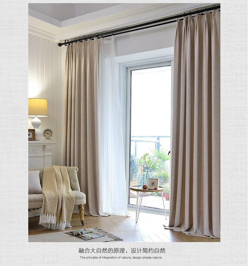 NEWModern minimalistische effen kleur gordijnen stof woonkamer ...
