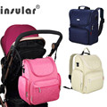 Insular Brand Baby Diaper Bag Backpack Waterproof Stroller Bag for Wheelchair Pram Mother maternity Nappy Changing Mummy Bags