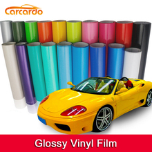 1 pc 1.52*0.5M Glossy vinyl film bright Glossy car warp sticker with bubble free FREE SHIPPING 1 pc 1 52mx50cm purple matt chrome vinyl film ice vinyl car sticker chrome matt vinyl car warp free shipping