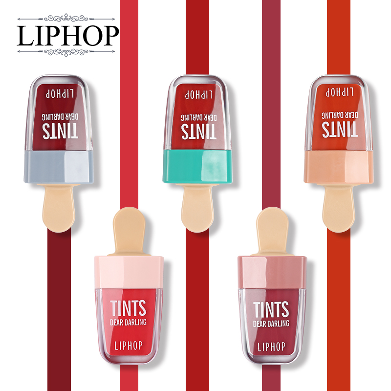 Liphop 5 Color Waterproof Liquid Lipstick Dear Darling Lips Tattoo Tints Makeup Sheer Moisturizing Lasting Natural Charming Lips