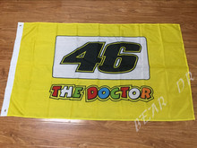 3X5FT VALENTINO ROSSI 46 FLAG THEDOCTOR BANNER Rally decorative banners 100D free shipping