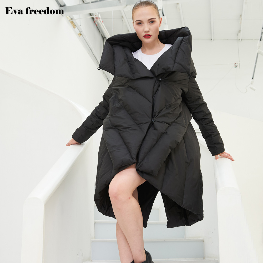 Style De Veste Ef12008a Black Pour Mode Irrégulière Conception Manteau Vers D'origine Nouveau Vestes Femmes Bas D'hiver 2018 Type Le X1Cqw5gxW