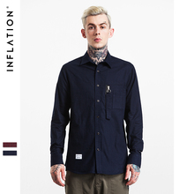INFLATION 2017  Autumn & Winter New Arrival Shirts Mens Casual Shirts Long Sleeve Hiphop Streetwear Shirts