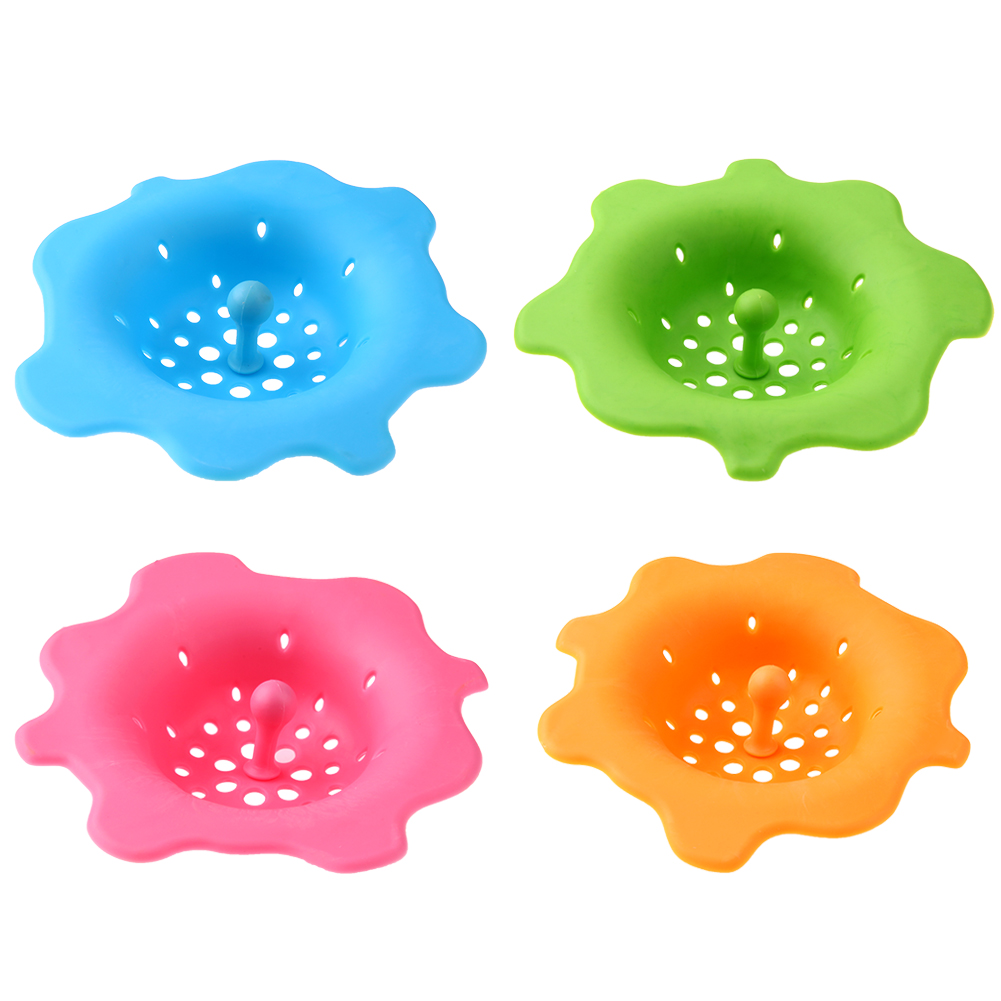 Silicone Sink Strainer Filter Sewer Drain Hair Colanders Cover Stopper Multi Function Kitchen Sink Strainer Tools