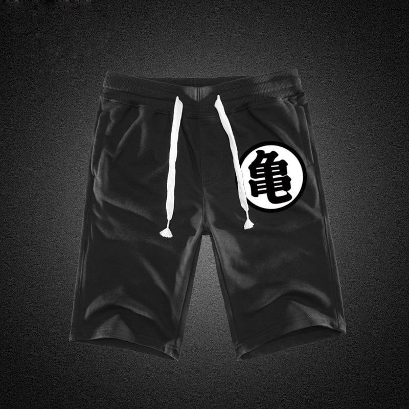 Sommer Lustige Drucken Shorts Männer Baumwolle Dragon Ball Goku Schwarz Hot Taschen Bund Herren Shorts Knie Mode Jogginghose Beiläufige