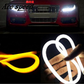 Ace speed-New 2PCS 45CM DRL Flexible LED Tube Strip Daytime Running Lights Turn Signal Angel Eyes Car Styling Parking Lamps