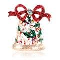 Женская брошь в виде рождественского колокольчика CINDY XIANG, яркое украшение на Рождество со стразами, модный аксессуар для свитера, платья, фу...