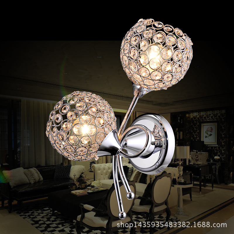 modern fashion High-grade Crystal  Wall Lamp Warm Living Room Bedroom Bedside Lamp Wall Lamp A253 modern lamp trophy wall lamp wall lamp bed lighting bedside wall lamp