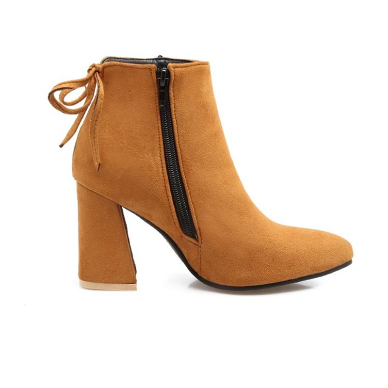 2018 plus size to 40 41 42 43 44 45 46 47 48 49 Lukuco popular ankle boots zipper design high quality lady shoes free shipping