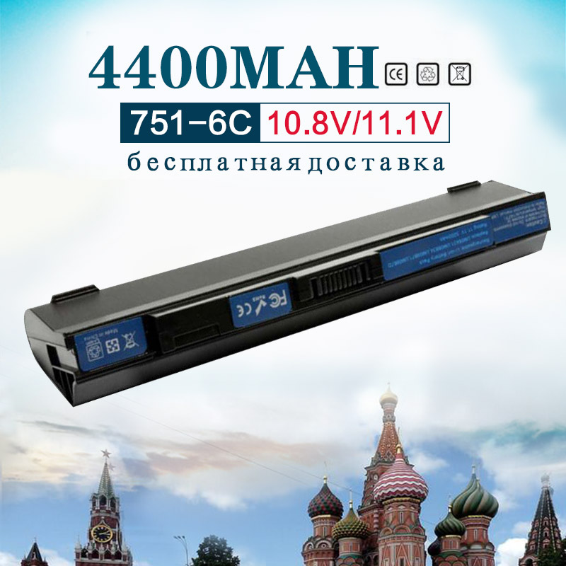 11.1 v 4400 mah Batterie D'ordinateur Portable pour Acer Aspire One 531 751 751 h ZG8 ZA3 UM09A71 UM09B71 UM09B73 UM09B7C UM09B7D UM09B31 UM09B34