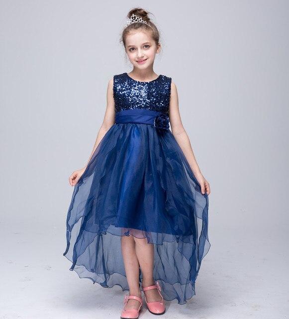 Золото блесток девушки одеваются платья лета девушки кружева малышей партия детская одежда детская одежда кружева платье девушки тюль платье 14