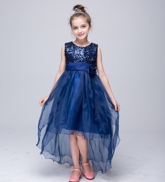 8b0fb4486f5c5 gold sequin girls dress dresses girl summer lace toddler party kids  clothing kids clothes lace dress prom girls tulle dress 14-in Dresses from  Mother ...