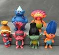 6pcs/set 2016 DREAMWORKS Movie Trolls Poppy Branch Biggie PVC Figures Doll Toy