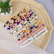 1Pcs Russia Fashion Simple Acrylic Leopard Print Hair Clips for Women Girl Side Clip Headwear Hairpins Barrette Hair Accessories(China)