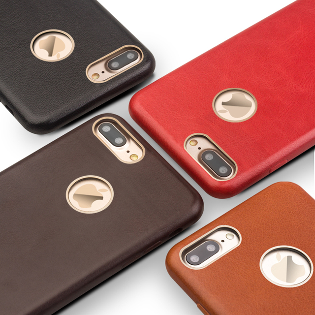 QIALINO Ultra slim High Quality case for iphone 7 plus design flip phone cover for iphone 7 plus real genuine leather