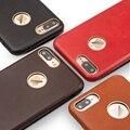 Qialino ultra delgado caso de la alta calidad para iphone 7 plus diseño tirón de la cubierta del teléfono para iphone 7 verdadera del cuero genuino