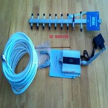 3g signal booster LCD affichage! cellulaire téléphone wcdma 3g 2100 mhz répéteur de signal avec 13dbi yagi, téléphone mobile 3g amplificateur de signal