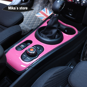 Image 3 - Hot sale indoor center console shift pannel abs protected cover for mini cooper F60 countryman car accessories sticker cover