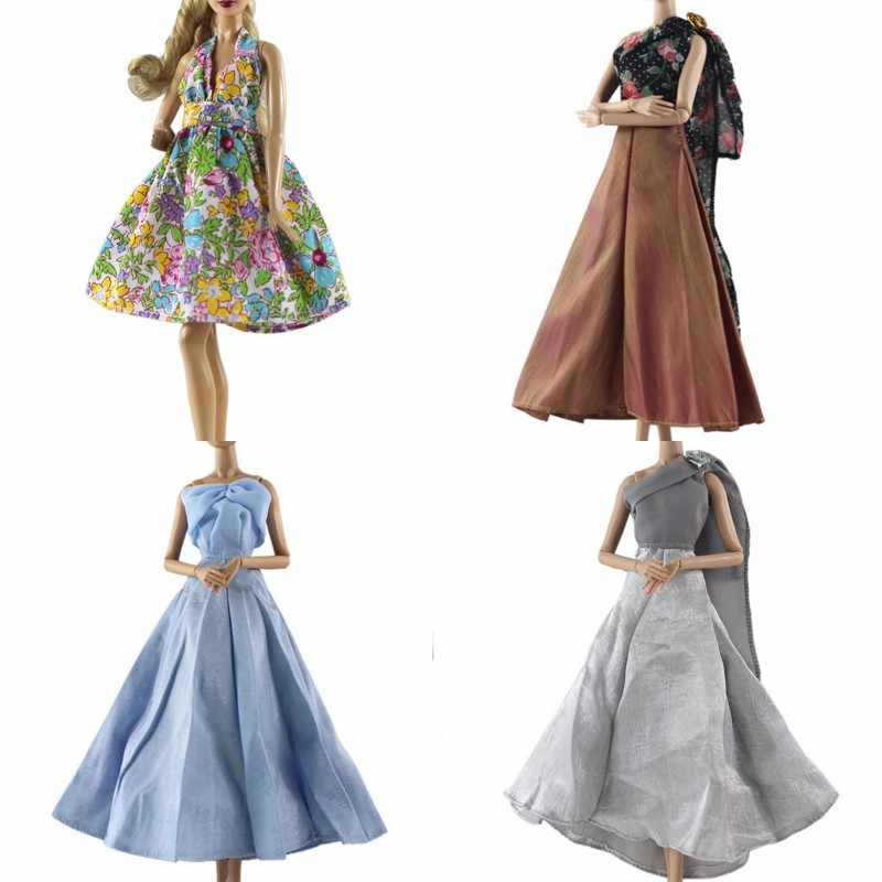 1Pc Elegant Summer Clothing Gown For doll Hand make wedding princess Dress Doll Party Dress