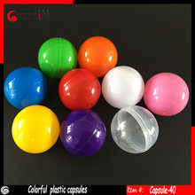 40mm Empty Plastic toy capsules for ball vending machines or drawing balls 100pcs/lot , free shipping(China)