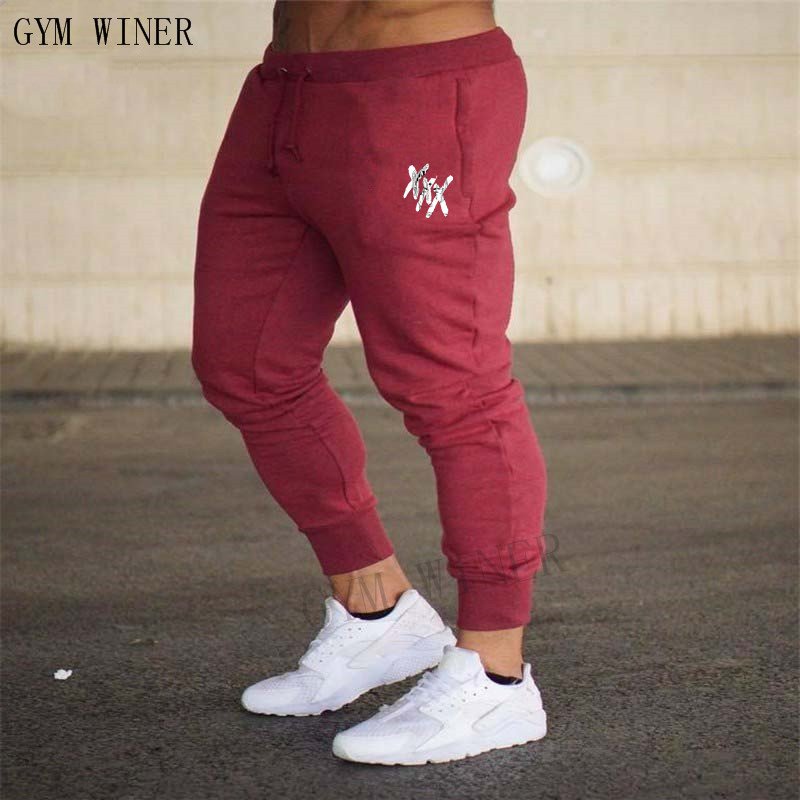 2018 New Men Joggers Brand Male Trousers Casual Pants Sweatpants Jogger Grey Casual Elastic Cotton Gyms Fitness Workout Pants