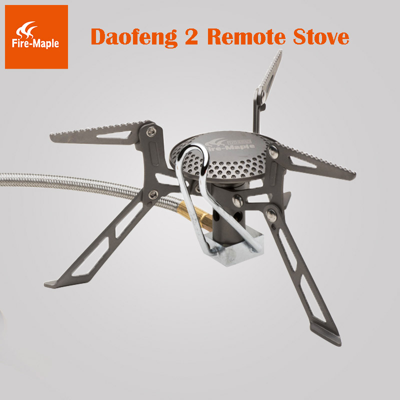 Fire Maple Daofeng2 Remoto Ultra light 135g One-piece Titanium Gas Stove Burner fire maple blade 2 upgrade split gas stove ultra light titanium alloy outdoor cooker gas burner camping equipment 135g fms 117h