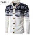 2016 Marca de Moda chaqueta de Punto de Los Hombres Suéter de Otoño Invierno de Punto Para Hombre Casual Suéteres Suéter Feo De la Navidad del Copo de Nieve Caliente Abrigo