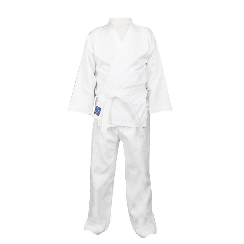 White Century Martial Arts Karate Uniform with Belt Light Weight Elastic Waistband & Drawstring for Adult & Children weight training for martial arts the ultimate guide