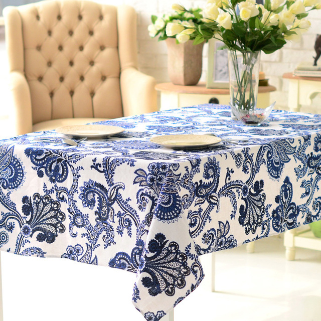 High quality fluid table cloth table runner tablecloth dining table cloth table cloth chinese style blue and white