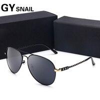 GY Snail Aviator Sunglasses Men Brand Designer Pilot Sun Glasses For Men Women Night Vision Goggles
