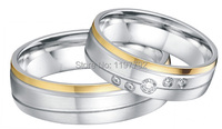 2014 new fashion trend gold color heath titanium engagement rings wedding bands 10 year anniversary ring gift sets