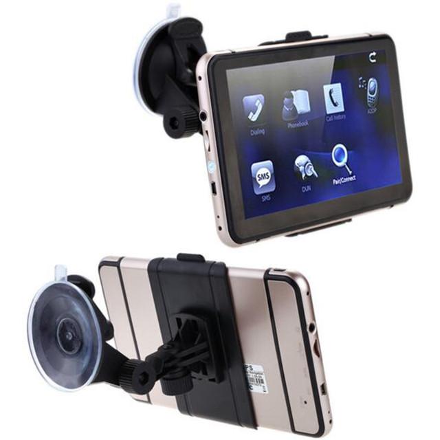 7 pulgadas de Pantalla Táctil de Coches de Navegación GPS 128 MB RAM 4 GB Portátil camioneta Navigator MP3/MP4 FM HD Reproducción de Vídeo Vehículo GPS + Mapa Libre