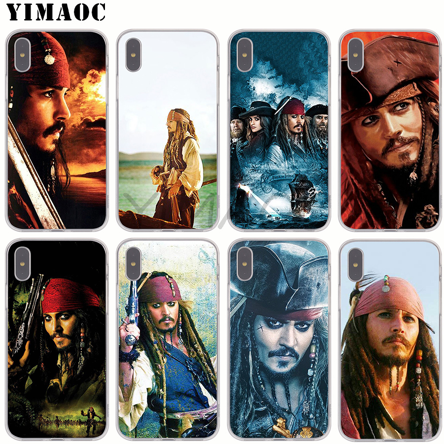 YIMAOC Caribbean Captain Jack Sparrow Soft Silicone Case for Apple iPhone 6 6S 7 8 Plus  ...