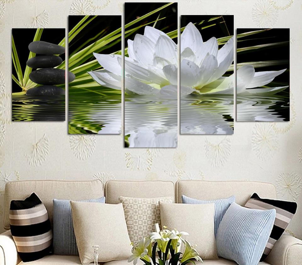 Acheter Blanc Fleur De Lotus De L Eau Claire Hd Imprime